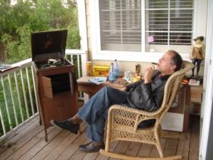 Poet Man Smoking a Cigar